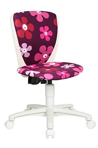 Topstar Kinderdrehstuhl S´cool 3 weiß - Motiv Blumen lila