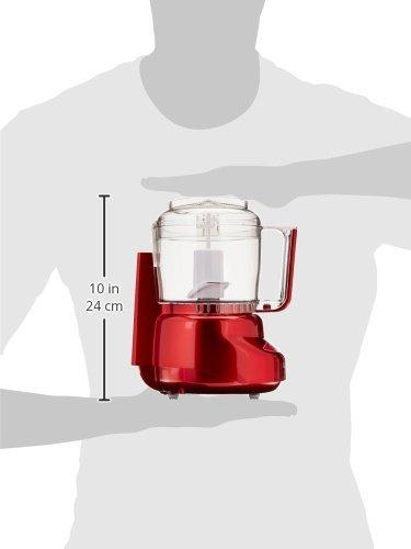 Cuisinart DLC-2AMR Mini-Prep Plus Processor, Metallic Red