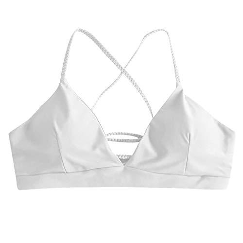 Damen Zweiteiliger Dreieck-Bikini, gepolsterter Triangel Oberteil und Drucken Bikinihose Badeanzug Wassersport Geteilter Badeanzug von TWBB
