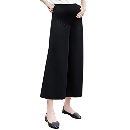 Allence – Pantalones de Mujer con Cintura Alta, cómodos y Transpirables Negro L