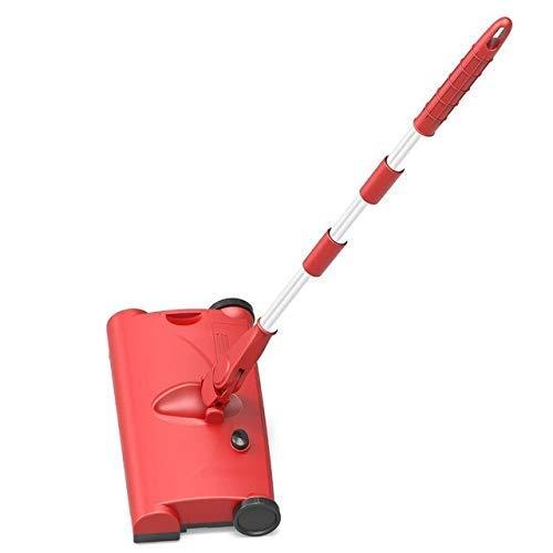 Sweeper giratable de la escoba, rastrillo de la alfombra telescópica para la limpieza del hogar, limpieza de supermercados, ventanas limpias, limpieza de alfombras (color: negro) WKY ( Color : Red )