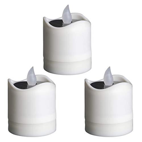 Amuzocity Vela Parpadeante de 3 Piezas LED Energy Tealight