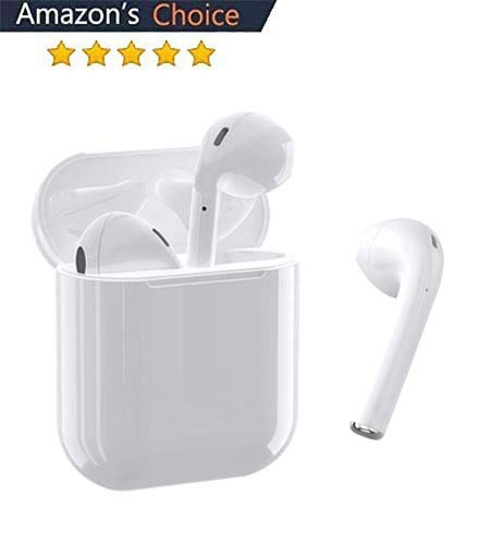Auricular Bluetooth 5.0, Auricular inalámbrico, micrófono y Caja de Carga incorporados, reducción...