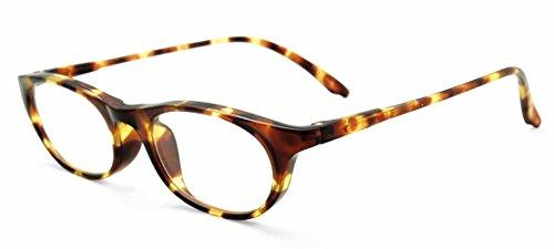 純日本製やわらかシニアグラス(老眼鏡)SABAEシリーズ【ベッコウ・カラー】鯖江製メガネ・JAPAN度数:+0.75~+3.50<ケース付>OD15