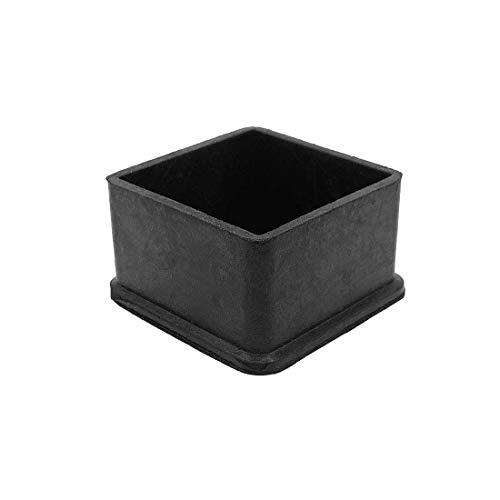 Fly Shop quadrato gomma coperture mobili protezioni nero 10PCS, 50*50/10pcs