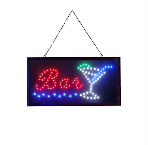 BAR Elektronisches LED-Schild - das originale intelligente leuchtende LED-Schild für professionelle, leistungsstarke, animierte, blinkende Anzeigeschilder B01