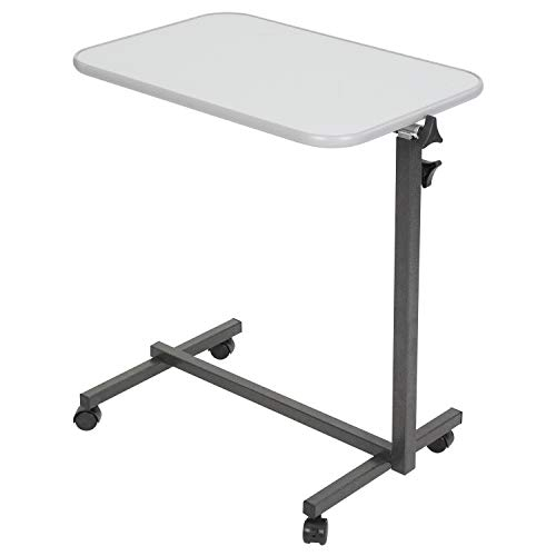 Vive Compact Overbed Table - Over Hospital Bed Tray - Rolling for Home Use or Medical - Adjustable Height, Tilt Top and Swivel Wheels - for Reading, Laptop, Eating, Bedridden, Elderly and Seniors