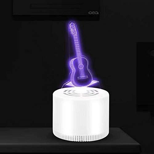 WYJW Elektrische muggenmoordenaar, Draagbare USB Vlieg Insect Killer - Efficiënte En Rustige 3D Muggendoder Lamp voor Indoor Outdoor Slaapkamer Baby Kamer Keuken Kantoor, Gitaar