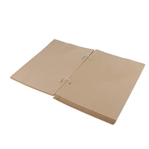 P Prettyia Cuaderno de Bocetos, Papel de Boceto Blanco para Usar como Graffiti, Boceto y Menú - L papel Kraft