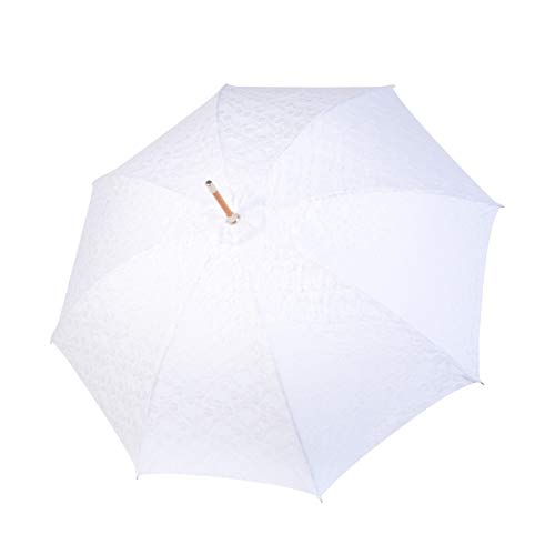 Doppler Manufaktur Wedding Traditionele paraplu - hoge kwaliteit paraplu bruiloft - met kant - wit - voor dames
