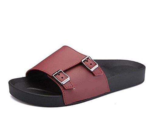 Zomer nieuwe trend dubbele gesp woord slippers groot formaat strand non - slip reizen sandalen mannelijke paalschoenen, 1, 43