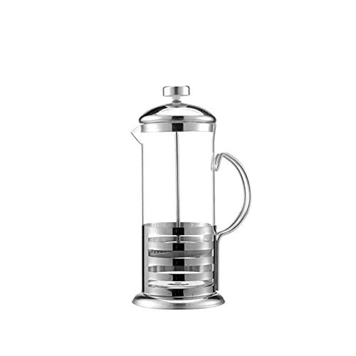 SYUCHENG Jodła do francuskiej kawy/herbata browar z kawą do kawy z czajnikiem 350/600/800/1000 ml ze stali nierdzewnej szkła czajniczek (Color : 350ml)