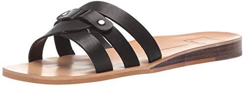 Dolce Vita Women's CAIT Slide Sandal Black Leather 5.5 M US