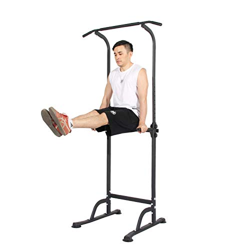 soges Power Tower Pull Up & Dip Station Multi-Function Home Strength Training Fitness Workout Station Height Adjustable, PSBB005-N