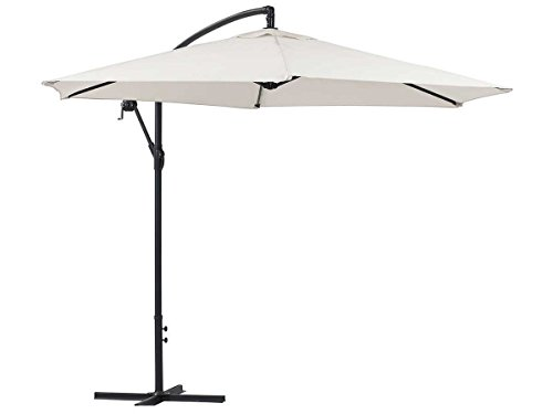 Viva Green 68240Ilios ombrellone Giardino deportato Rotondo Alluminio Ecru Diametro 3m