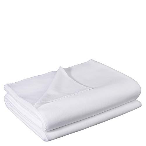 zoeppritz since 1828' Soft-Fleece-Decke – Polarfleece-Decke mit Häkelstich – flauschige Kuscheldecke – 160x200 cm – 000 white – von 'zoeppritz since 1828', 103291-000-160x200