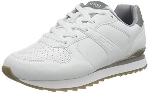 ESPRIT Damen 070EK1W307 Sneaker, 101/WHITE 2, 37 EU