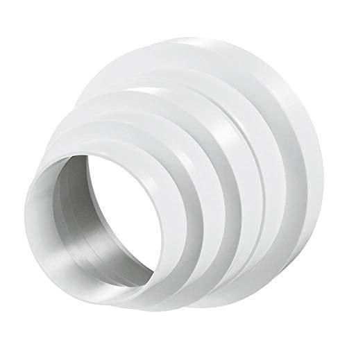 Reductor de PVC para sistemas de ventilación, diámetro 80-150 mm, conector de tubo de ventilación