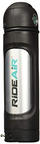 RideAir with Lock - The Effortless Air Pump with Mounted Lock. Portable Air Can for Bike Tires and Tubeless Seating