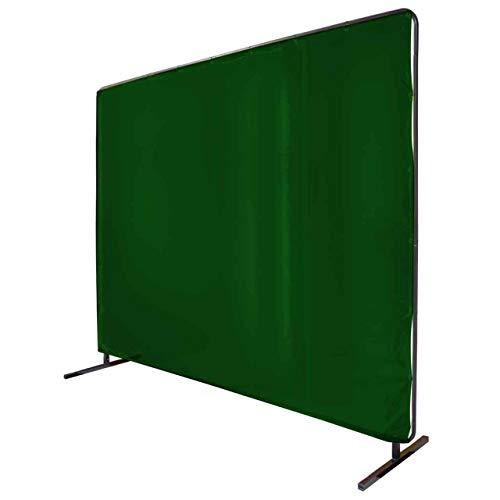 Revco 6X8VF1-GRN 14 mil. 6'X8' Green Saf-Vu 1 Panel Welding Screen with Frame