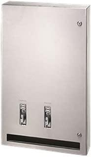 Bradley 407-114300 Surface-mount Sanitary Napkin/Tampon Dispenser, 50 Cents