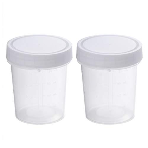 ULTECHNOVO Urinproben Auffangbecher mit Deckel, 120 ml