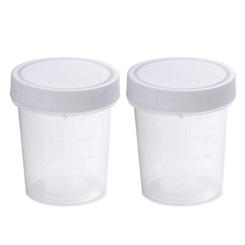 ULTECHNOVO Urine specimen collection cups with lids 120ML
