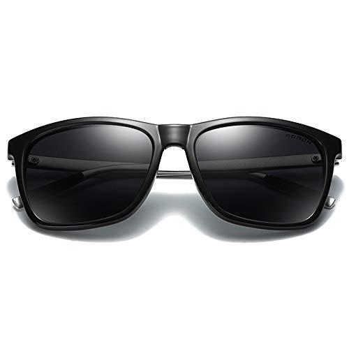 Hancoc Gafas de sol polarizadas de color policarbonato, marco negro, lentes negro/verde/azul para hombre y mujer con la misma conducción (color: negro)