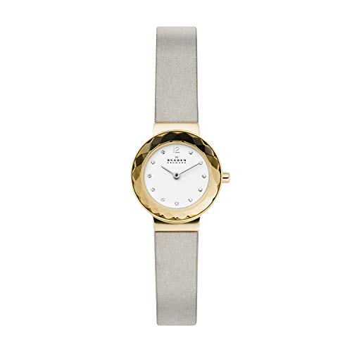 Skagen Damen Analog Quarz Uhr mit Leder Armband SKW2778