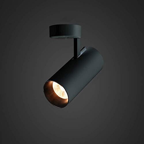 ZZYJYALG Nórdicos y estilo moderno lámpara del techo, 4000 K, 90 ° neutros, plegable, 360 °, de aluminio, for montaje en superficie (Color : Negro)