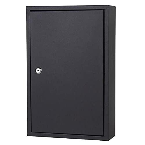 PWE-Armario De Seguridad para 48 Llaves,Caja De Cerradura De Seguridad,con Cerradura De Llave,Negro