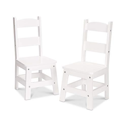 Melissa & Doug - Sillas de madera sólida, sillas infant