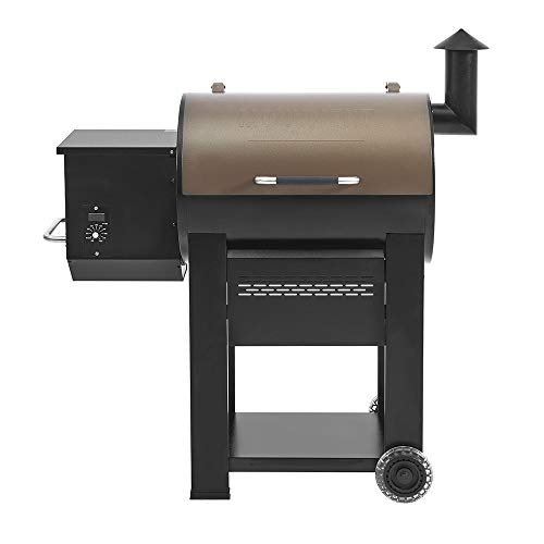 Monument Grills 89679 Bronze Powder Coated Steel Wood Pellet Grill and Smoker with 572 Square Inch Cooking Space and Manual Control