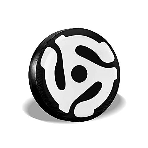 QQIAEJIA DJ 45 RPM Adaptador Cubierta de neumático a Prueba de Polvo e Impermeable Cubierta de neumático portátil a Prueba de Sol para camionetas SUV Protectores de Ruedas