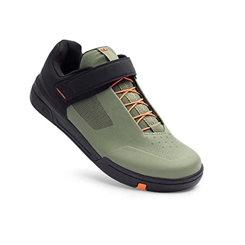 Crank Brothers Stamp SpeedLace Men's Flat Shoe - Green/Orange/Black, Size 13