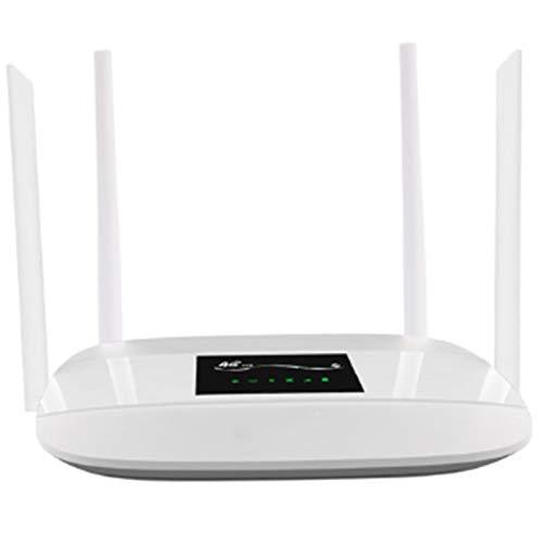 Fransande - Router WiFi 4G LTE desbloqueado, router CPE inalámbrico 4G con antena de 4 piezas y puerto LAN y ranura para tarjeta SIM, enchufe europeo