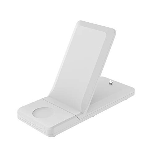 JUNCHUANG Caricatore senza fili,3 in 1 15W Fast Wireless Charging Stand for 12 Pro Max 12 Mini iWatch 6 4 2 AirPods Pro e tutti i telefoni