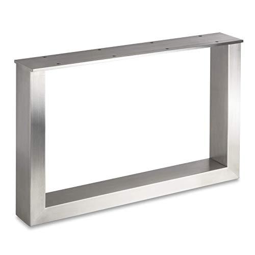 Sotech Exklusives Tischgestell KUFE ECHT Edelstahl/Profil 80 x 40 mm/Höhe: 400 mm/Tiefe: 600 mm höhenverstellbar Couchtisch-Untergestell Rahmengestell von SO-TECH®