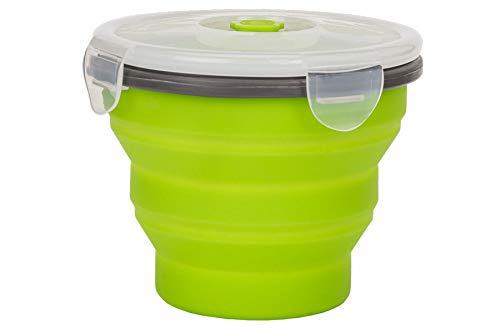 Smile SPS-1/4 Pieghevole Tuppers, Silicone Senza BPA, Verde