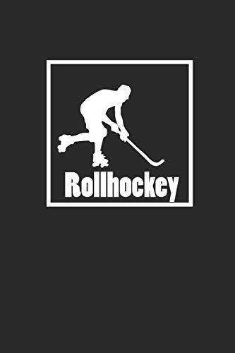 ROLLHOCKEY: Notizbuch Hockey Notebook Roller Journal 6x9 Journal squared kariert