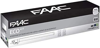 Faac Eco Kit Green Automatización electromecánica motor 230 V puertas batientes 105632445 con 1 par de fotocélulas XP 20b D 785103 regalo