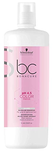 Schwarzkopf Professional BONACURE ph 4.5 - Champú Color Silver Freeze, 1 L