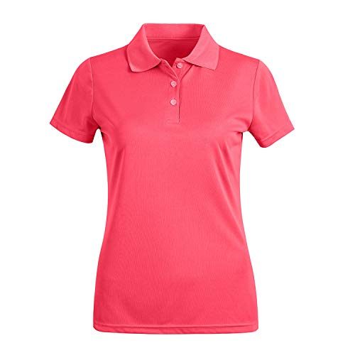 MOHEEN Women's Short Sleeve Polo Shirts Moisture Wicking Athletic Golf Polo Slim Fit