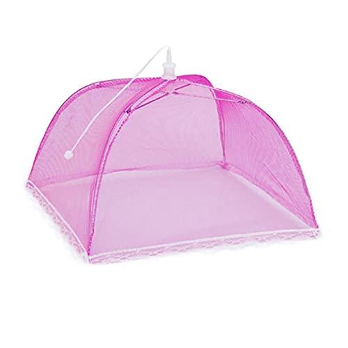 LiQinKeJi8 Reutilizable Cubierta alimenticia Protector de Paraguas Plegable Pop Up Mesh Fly Wasp Net Party BBQ Herramientas de especialidades de la Cocina para Fiestas al Aire Libre, barbacoas