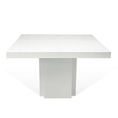 Paris Prix - Temahome - Table De Repas Dusk 130cm Blanc Laqué