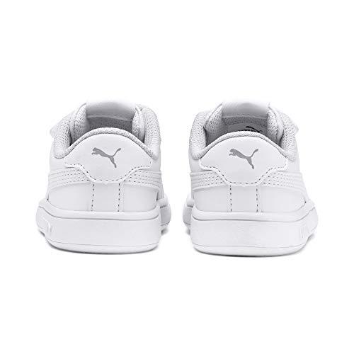 PUMA Unisex Baby Puma Smash V2 L V Inf Sneaker, Puma White Puma White, 26 EU