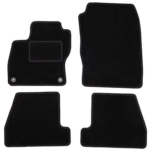 Wielganizator Carlux - Juego de alfombrillas de terciopelo para Ford Focus MK3 Hatchback Sedan Estate (5 piezas), color negro