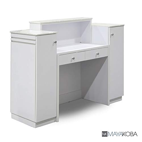 White salon reception desk, White salon reception desks