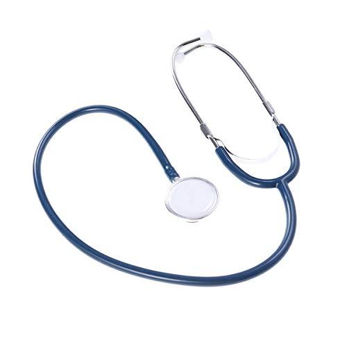 UKCOCO Estetoscopio de Doble Cara Herramienta de Equipo de Dispositivo Estetoscopio Auscultación Ayuda Médica Portátil (Azul Oscuro)