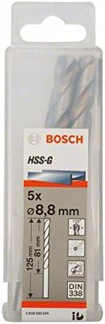 Industry No. 1 Bosch 2608595074 Metal Drill Bit OFFicial mail order 8 Pc 5 8mmx3.19inx4.92In Hss-G